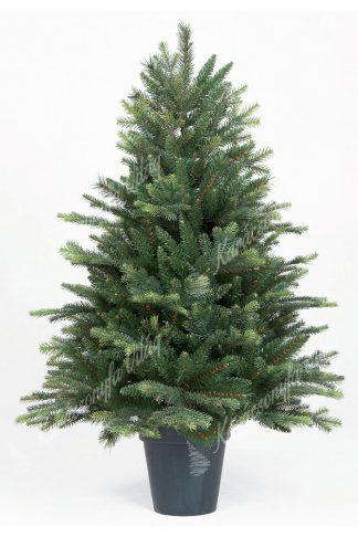 Műkarácsonyfa 3D Normand Jegenyefenyő Cserépben