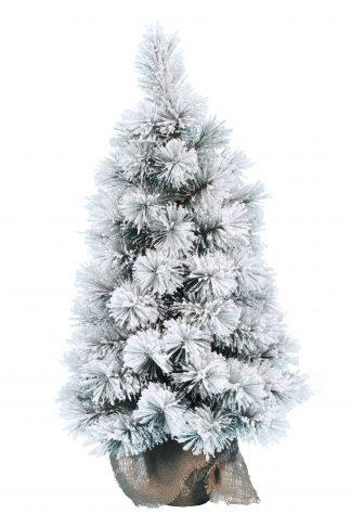 Műkarácsonyfa Havas Mini Borókafenyő