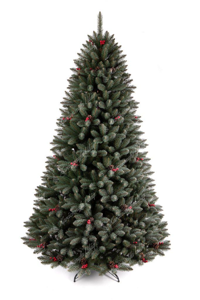 Műkarácsonyfa Kristályos Lucfenyő