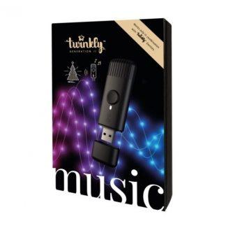 Zenei szenzor a Twinkly világításhoz, amely biztosítja, hogy a fények a lejátszott zene ritmusában villogjanak.