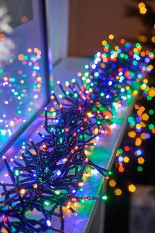 Színes LED fényfüzér Twinkly cluster multicolor 6m RGB 400LED. Változatos színskálája van