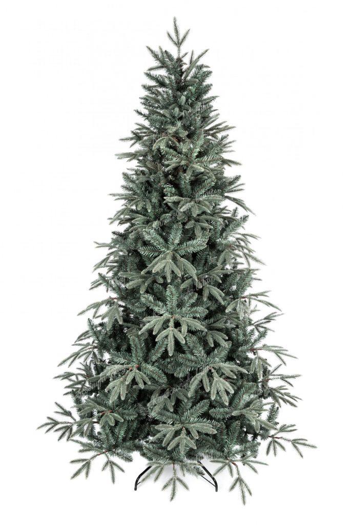 3D-s Ezüst Jegenyefenyő karácsonyfa