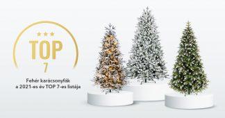 Fehér karácsonyfák - a 2021-es év TOP 7-es listája