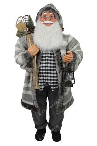 Dekoráció Santa Claus szürke 115cm