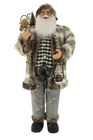 Dekoráció Santa Claus szürke 150cm