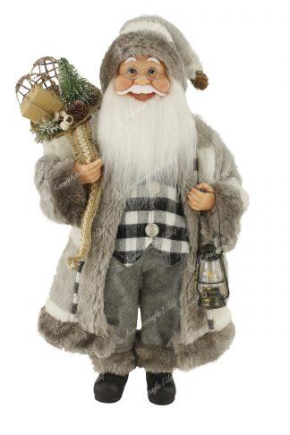 Dekoráció Santa Claus szürke 46cm