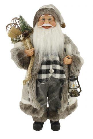 Dekoráció Santa Claus szürke 60cm