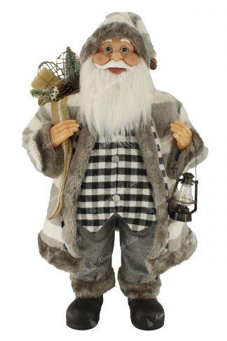 Dekoráció Santa Claus szürke 80cm