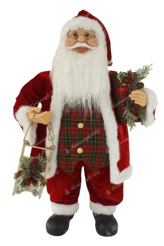 Hagyományos Santa Claus dekoráció 80cm
