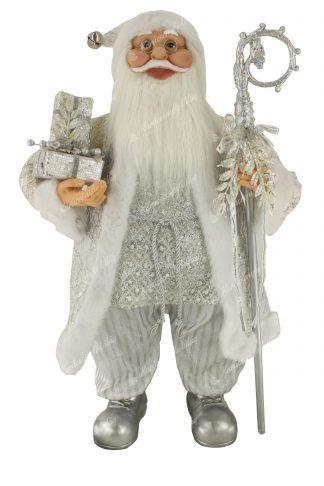 Karácsonyi Jeges Mikulás dekoráció 80cm