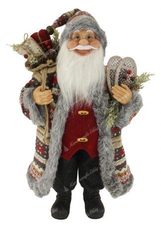 Karácsonyi Mintás Mikulás dekoráció 60cm